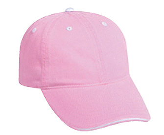 Washed pigment dyed cotton twill sandwich visor solid ...
