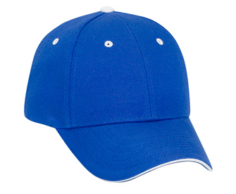 Wool blend sandwich visor solid color six panel low profile pro style caps