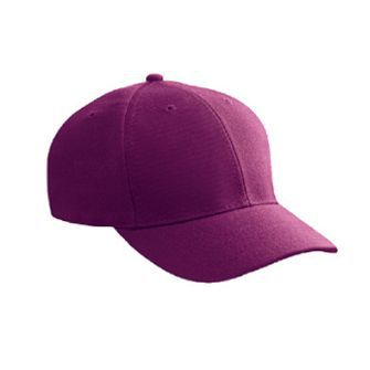 Wool blend solid color six panel low profile pro style caps