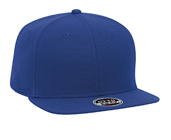 Wool blend square flat visor snapback solid color six ...