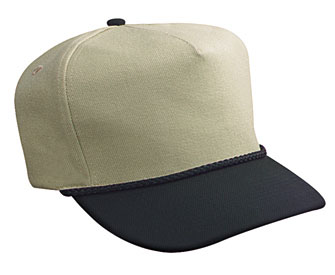 Wool blend two tone color five panel low crown golf ...