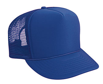 a8553390f69 Youth polyester foam front solid color six panel five panel high crown golf  style mesh back caps  2.30 - Headwear