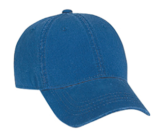 Youth superior garment washed cotton twill solid color six panel low profile pro style caps
