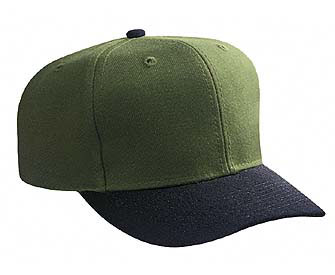 Youth wool blend solid and two tone color six panel pro style caps