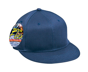 OTTO Flex stretchable deluxe cotton twill flat visor solid color six panel pro style caps