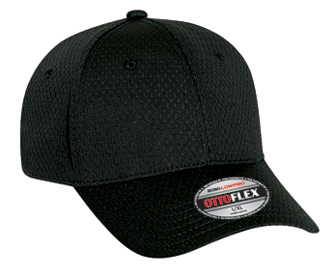 OTTO Flex stretchable polyester pro mesh solid color six panel low profile pro style caps