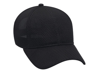 Polyester air mesh solid color six panel low profile pro style caps