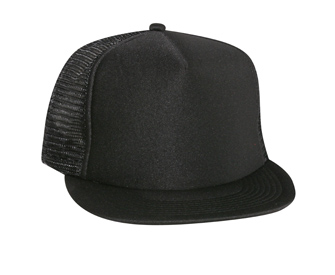 OTTO Cap 132-1037 - Polyester Foam Front 5-Panel High Crown Round Visor Mesh Back Snapback