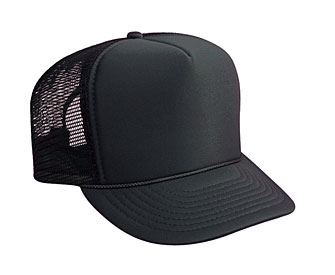 ... Youth polyester foam front solid color six panel five panel high crown  golf style mesh back a9703f82aef8