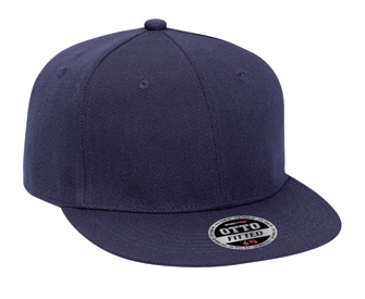 OTTO Fit Wool blend flat visor fitted solid color six panel pro style caps