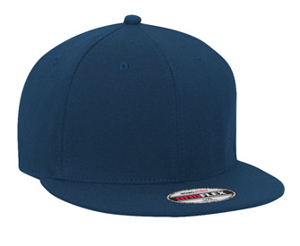 OTTO Flex stretchable wool blend flat visor solid color six panel pro style caps