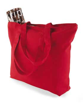 Augusta Sportswear 611 - Canvas Zipper Tote