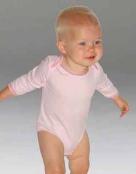 Bella+Canvas 103 婴儿幼儿长袖保暖一片式连体T恤