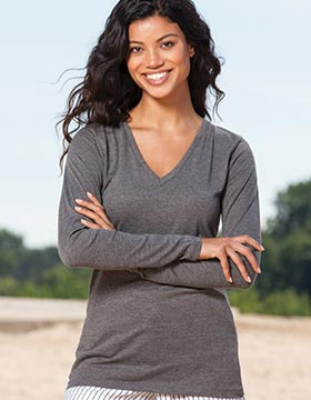 Enza 03279 - Ladies Essential Long Sleeve V-Neck Tee
