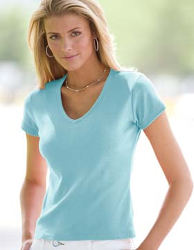 Enza 04679 - Ladies V-Neck Tee (Closeout)