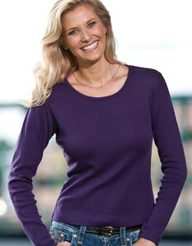 Enza 04879 - Ladies Long Sleeve Scoop Neck Tee