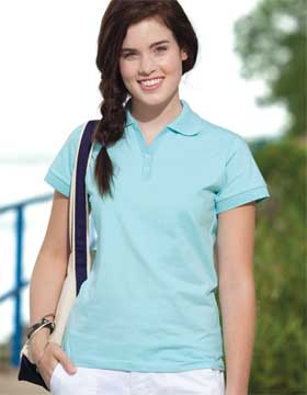 Enza 05079 - Ladies Jersey Knit Two Button Sport Shirt