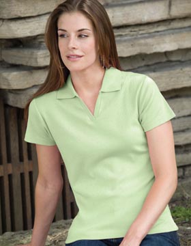 Enza 05979 - Ladies Short Sleeve Fine Rib Sport Shirt
