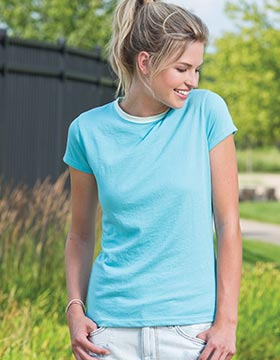 Enza 06979 - Ladies Tonal Ringer Tee (Closeout)