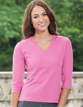 Enza 07179 - Ladies Corporate Quarter Sleeve V-Neck ...