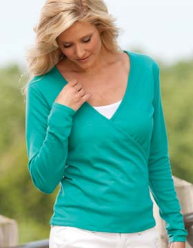 Enza 07379 - Ladies Corporate Wrap Tee