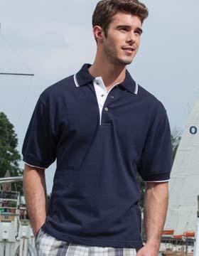 Enza 13079 - Tipped Pique Sport Shirt (Closeout)