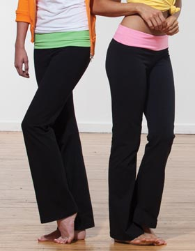 Enza 16579 - Ladies Fold Over Yoga Pant