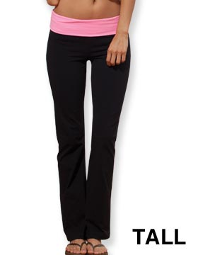 Enza 165T79 - Ladies Fold Over Yoga Pant - Tall