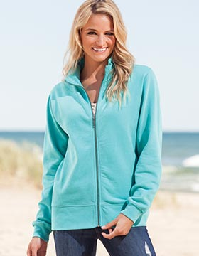 Enza 33279 - Ladies Relaxed Fit Sueded Fleece Jacket