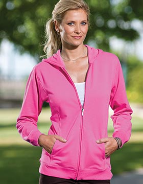 Enza 33679 - Ladies Relaxed Fit Lightweight Full Zip Hood