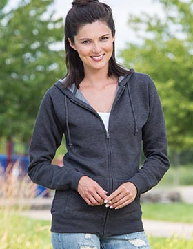 Enza 34079 - Ladies Full Zip Fleece Hoodie