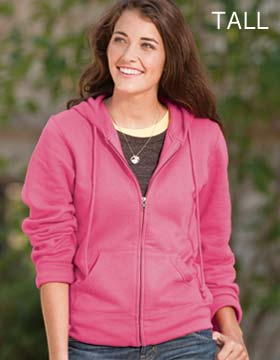Enza 340T79 - Ladies Full Zip Fleece Hoodie - Tall