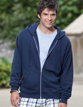 Enza 35679 - Enzyme Washed Full Zip Fleece Hood