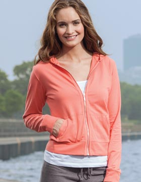 Enza 39279 - Ladies Jersey Zip Hood