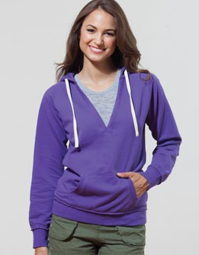 Enza 39379 - Ladies Lightweight Fleece Deep V Pullover