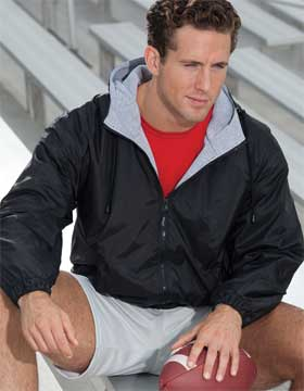 Enza 42579 - Full Zip Hooded Nylon Jacket