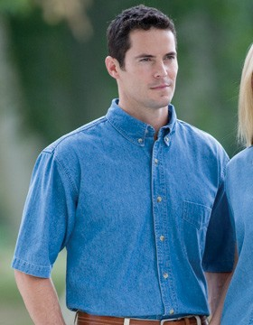 Enza 49679 - Classic Short Sleeve Denim Shirt