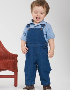 Enza 81579 - Toddler Denim Overall