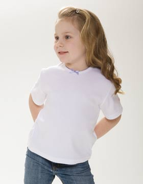 Enza 82679 - Toddler Interlock Fashion Tee (Closeout)