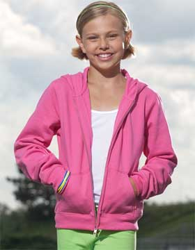 Enza 94079 - Youth Full Zip Fleece Hoodie