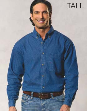 Sierra Pacific S7211 - Long Sleeve Denim Shirt - Tall
