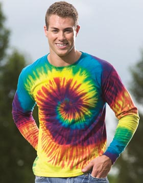 Tie-Dyed 958 - Reactive Dyed Heavyweight Long Sleeve ...