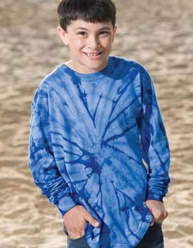 Tie-Dyed 968 - Youth Spider Tie Dye Long Sleeve T-Shirt
