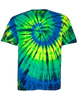 Tie-Dyed ED920 - Multi Color Center Swirl T-Shirt