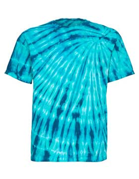 Tie-Dyed ED925 - Youth Multi Color Left Shoulder Flames T-Shirt