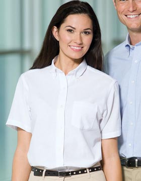 119b96fdd Van Heusen 13V0003 - Ladies Oxford Short Sleeve Shirt $21.44 ...