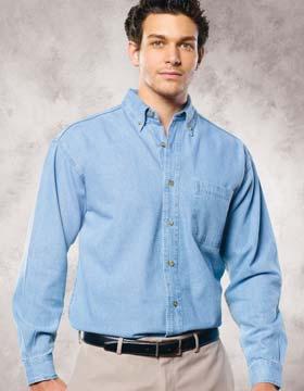 Sierra Pacific S7211 - Long Sleeve Denim Shirt - Tall