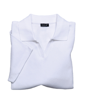 Enza 05979 - Ladies Short Sleeve Fine Rib Sport Shirt