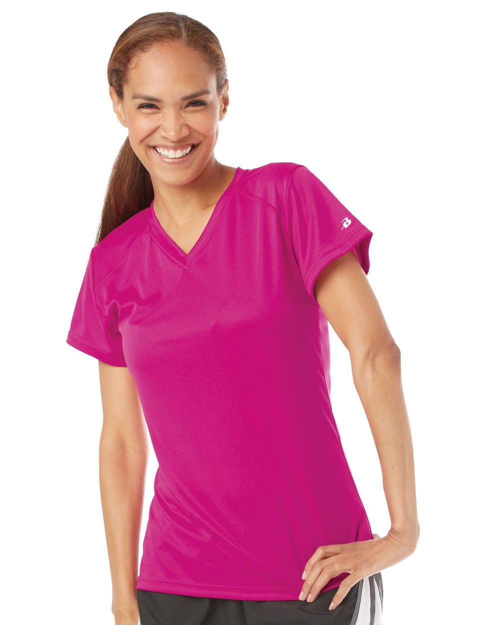 Badger Sport Ladies' B-Dry Core V-Neck Tee - 4162