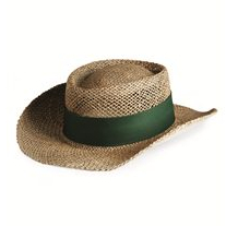 Outdoor Cap Lined Gambler Straw Hat - STW100